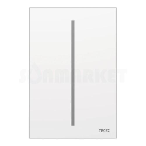 Панель смыва для писсуара бесконтактная TECEfilo, стекло, питание от батареи 7.2В, белая