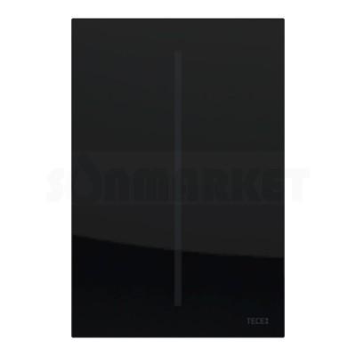 Панель смыва для писсуара бесконтактная TECEfilo, стекло, питание от батареи 7.2В, чёрная