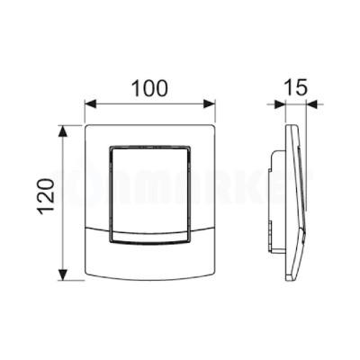 Кнопка смыва для писсуара TECEambia Urinal, хром глянцевый