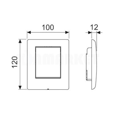 Кнопка смыва для писсуара TECEplanus Urinal, нержавеющая сталь, сатин