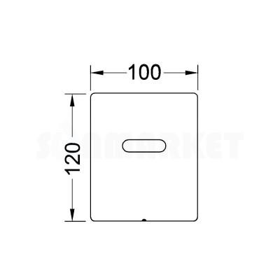 Панель смыва для писсуара с инфракрасным датчиком питание от сети 230/12В нержавеющая сталь сатин TECEplanus Urinal