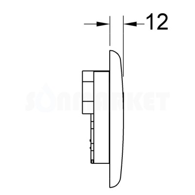 Панель смыва для писсуара с инфракрасным датчиком питание от сети 230/12В белая глянцевый TECEplanus Urinal