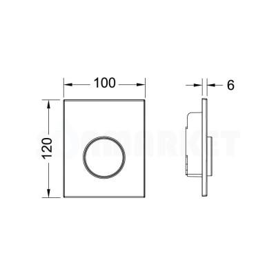 Кнопка смыва для писсуара TECEloop Urinal, пластиковая, хром глянцевый