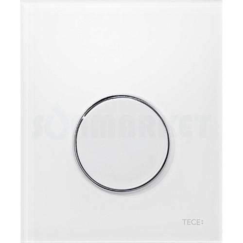 Кнопка смыва для писсуара TECEloop Urinal, пластиковая, белая, клавиша хром глянцевый