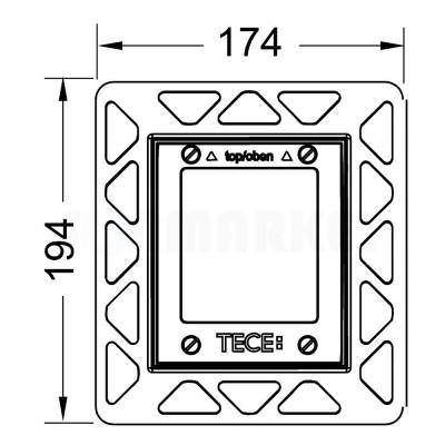 Монтажная рамка для установки стеклянных панелей TECEloop или TECEsquare Urinal на уровне стены чёрный