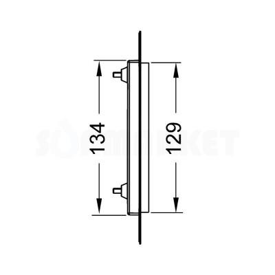Монтажная рамка для установки стеклянных панелей TECEloop или TECEsquare Urinal на уровне стены хром глянцевый