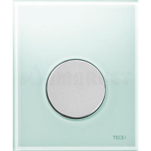 Кнопка смыва для писсуара TECEloop Urinal, стеклянная, стекло зелёное, клавиша хром матовый