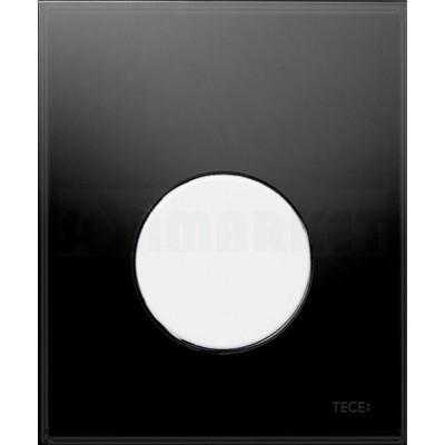 Кнопка смыва для писсуара TECEloop Urinal, стеклянная, стекло чёрное, клавиша белая