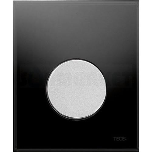 Кнопка смыва для писсуара TECEloop Urinal, стеклянная, стекло чёрное, клавиша хром матовый