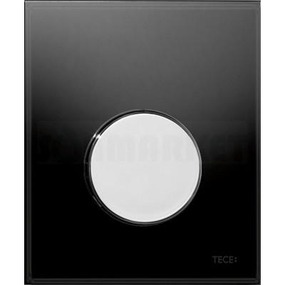 Кнопка смыва для писсуара TECEloop Urinal, стеклянная, стекло чёрное, клавиша хром глянцевый