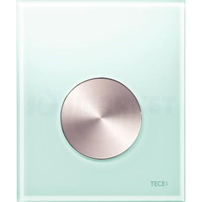 Кнопка смыва для писсуара TECEloop Urinal, стеклянная, стекло зелёное, клавиша нержавеющая сталь (против отпечатков пальцев)