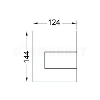 Кнопка смыва для писсуара TECEsquare Urinal, металлическая, нержавеющая сталь, сатин (против отпечатков пальцев)
