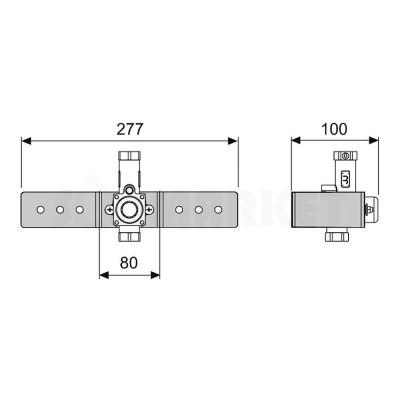 Клапан смыва писсуара с монтажной пластиной TECEprofil