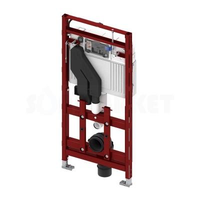 Инсталляция для подвесного унитаза с регулировкой по высоте с системой очистки воздуха TECElux 400