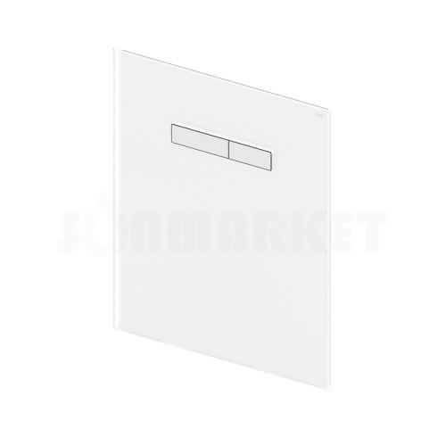 Верхняя панель для систем инсталляций с механическим блоком управления смывом, стекло белое, клавиши белые TECElux