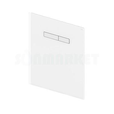 Верхняя панель для систем инсталляций с механическим блоком управления смывом, стекло белое, клавиши хром глянцевый TECElux