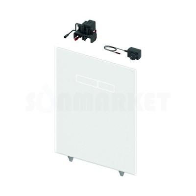 Верхняя панель для систем инсталляций с сенсорным блоком управления смывом, стекло белое TECElux