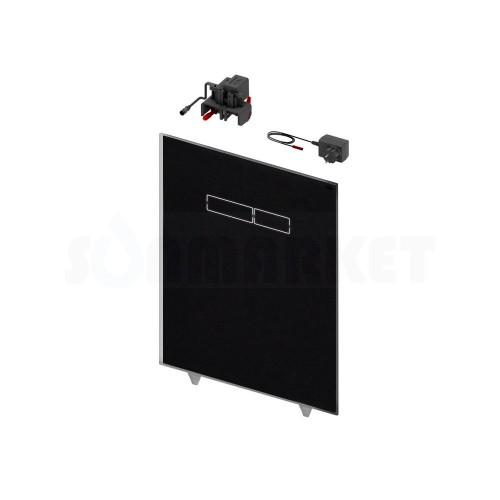 Верхняя панель для систем инсталляций с сенсорным блоком управления смывом, стекло чёрное TECElux