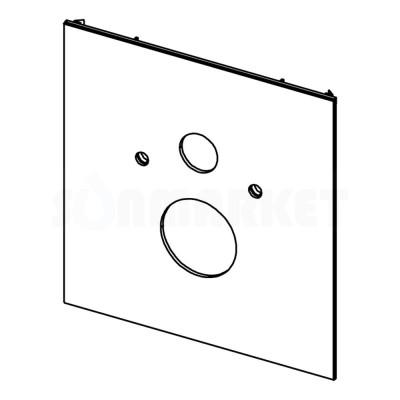 Нижняя панель TECElux для установки стандартного унитаза стекло чёрное