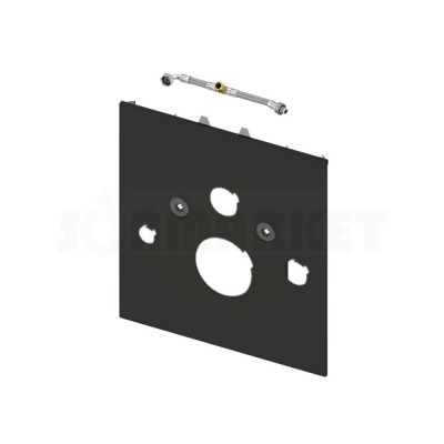 Нижняя панель TECElux для установки унитазов-биде TOTO Neorest AC/EW и Geberit AquaClean 8000/8000 plus стекло чёрное